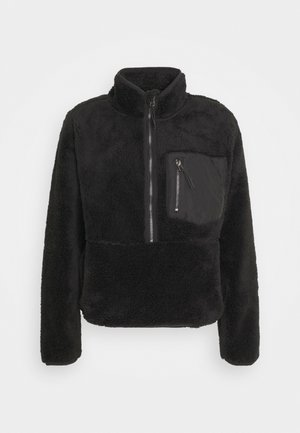 ONLDALINA ZIP - Fleece jumper - black