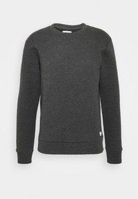 JJSTRUCTURE CREW NECK - Sweatshirt - dark grey melange