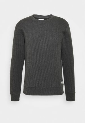 JJSTRUCTURE CREW NECK - Sweatshirt - dark grey melange
