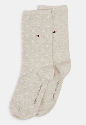 WOMEN SOCK DOT 2 PACK - Calze - light beige melange