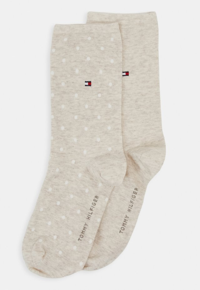 WOMEN SOCK DOT 2 PACK - Chaussettes - light beige melange