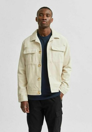 SLHCHARLIE CORD  - Summer jacket - bone white