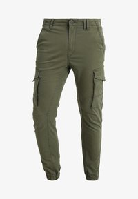 Jack & Jones - JJIPAUL JJFLAKE  - Bojówki - olive night - 4