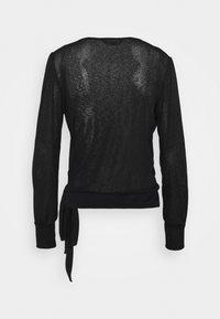 Dorothy Perkins - LONG SLEEVE WRAP  - T-shirt à manches longues - black - 1