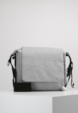 SMALL MESSANGER BAG UPDATE - Baby changing bag - black melange