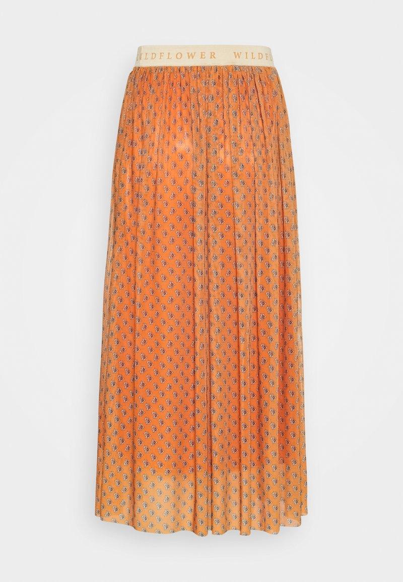 Rich & Royal - SKIRT  - A-line skirt - sunset orange