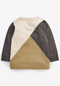 Next - COLOURBLOCK LONG SLEEVE T-SHIRT (3MTHS-7YRS) - Sweatshirt - khaki - 1