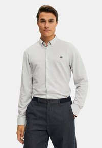 WE Fashion - SLIM FIT - Camicia - light grey - 0
