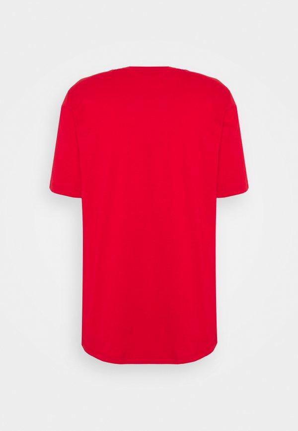 HUGO DOLIVE - T-shirt z nadrukiem - open pink/czerwony Odzież Męska EFUG