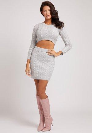 ROCK WOLLMIX - Mini skirt - grey