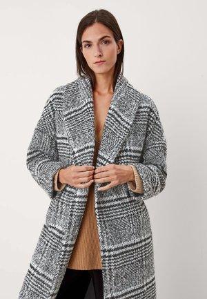 MIX - Classic coat - black minimal check