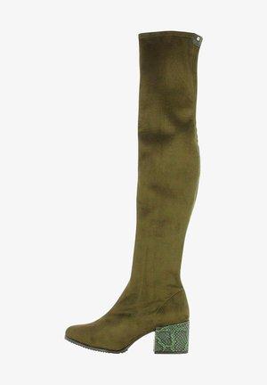 Stivali sopra il ginocchio - green