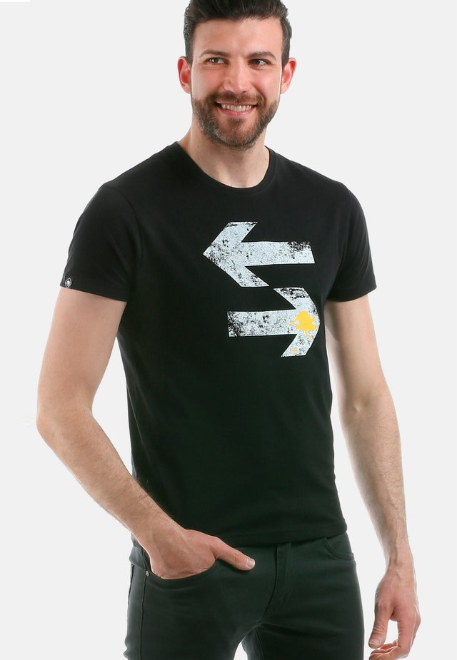 DIRECTION - T-shirt con stampa - black