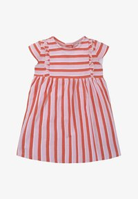 TOM TAILOR - TOM TAILOR KLEIDER & JUMPSUITS GESTREIFTES KLEID MIT RÜSCHEN - Day dress - printed stripe|multicolored - 0
