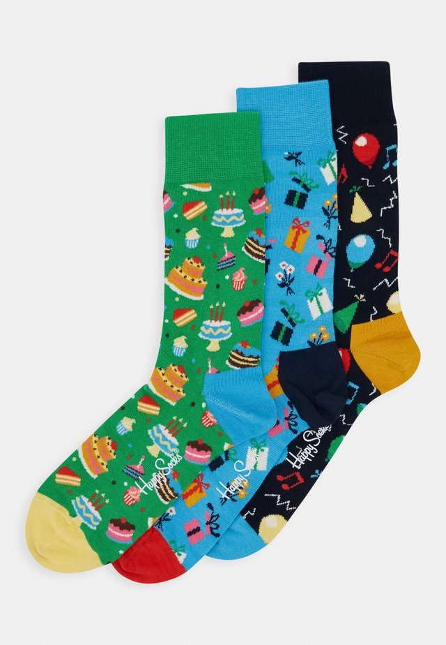 HAPPY BIRTHDAY SOCKS GIFT SET 3 PACK - Sukat - multi