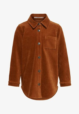 Button-down blouse - ginger bread