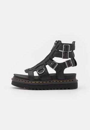 OLSON - Ankle cuff sandals - black aunt sally