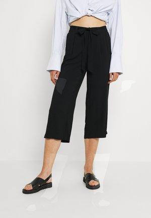 ONLNOVA LIFE CROP PALAZZO PANT - Pantalon classique - black