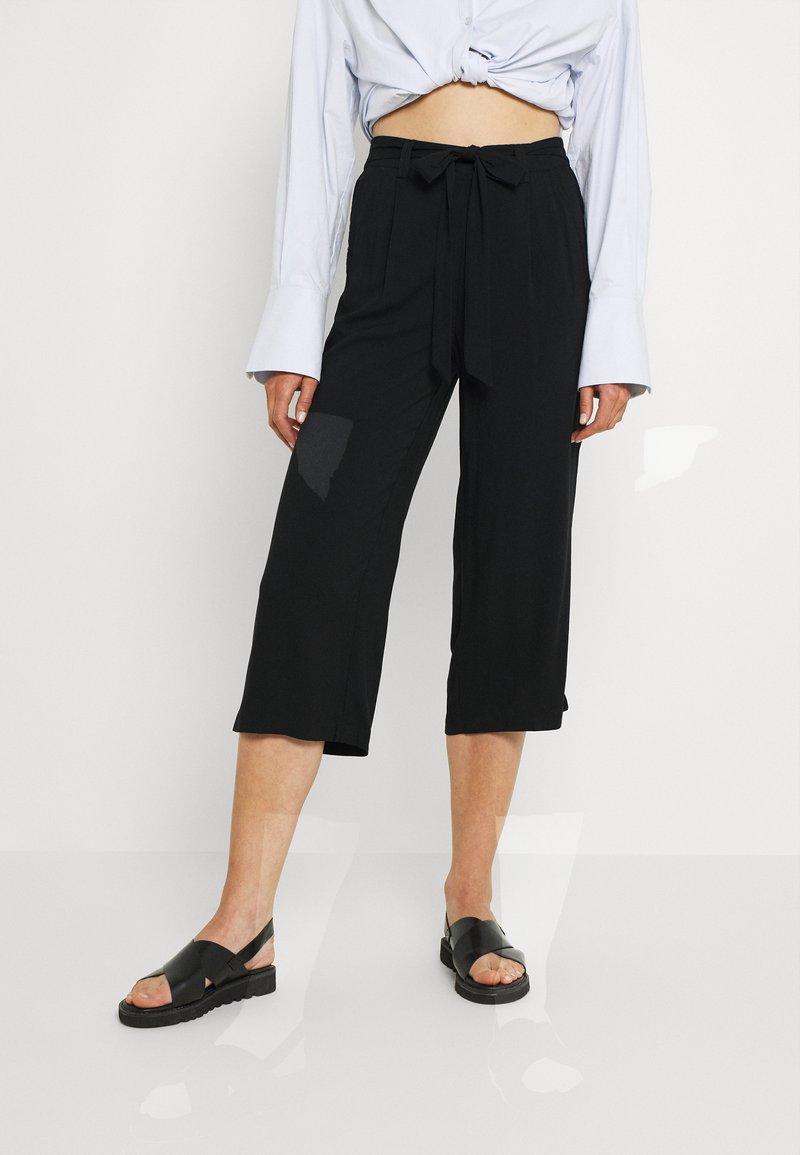 ONLY - ONLNOVA LIFE CROP PALAZZO PANT - Trousers - black