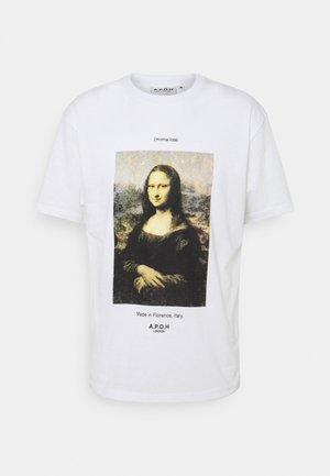 MONA LISA TEE - Print T-shirt - white