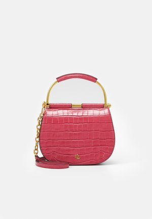 MASON SATCHEL MINI CROC - Handbag - ruby