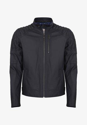 Leather jacket - navy tafta