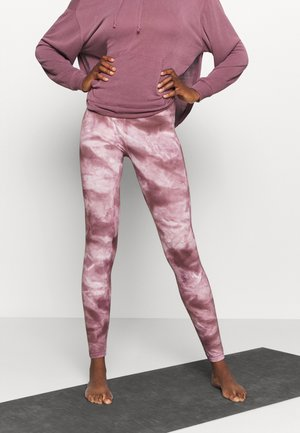 GOOD KARMA TIE DYE LEGGING - Legginsy - wine
