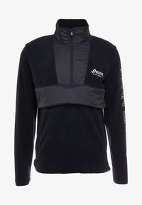 Penn - MEN'S BLOCKED POLAR ZIP - Fleece jumper - black - 5