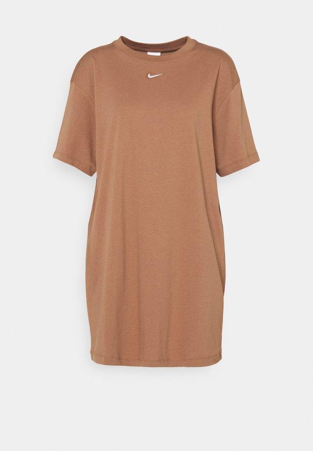 Sukienka z dżerseju - archaeo brown/white