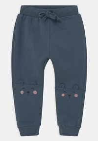 Lindex - KNEE DETAIL UNISEX - Trousers - dusty blue - 0
