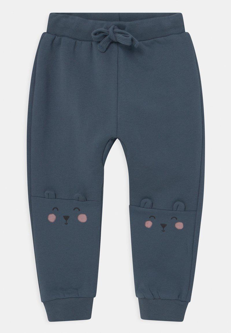 Lindex - KNEE DETAIL UNISEX - Trousers - dusty blue