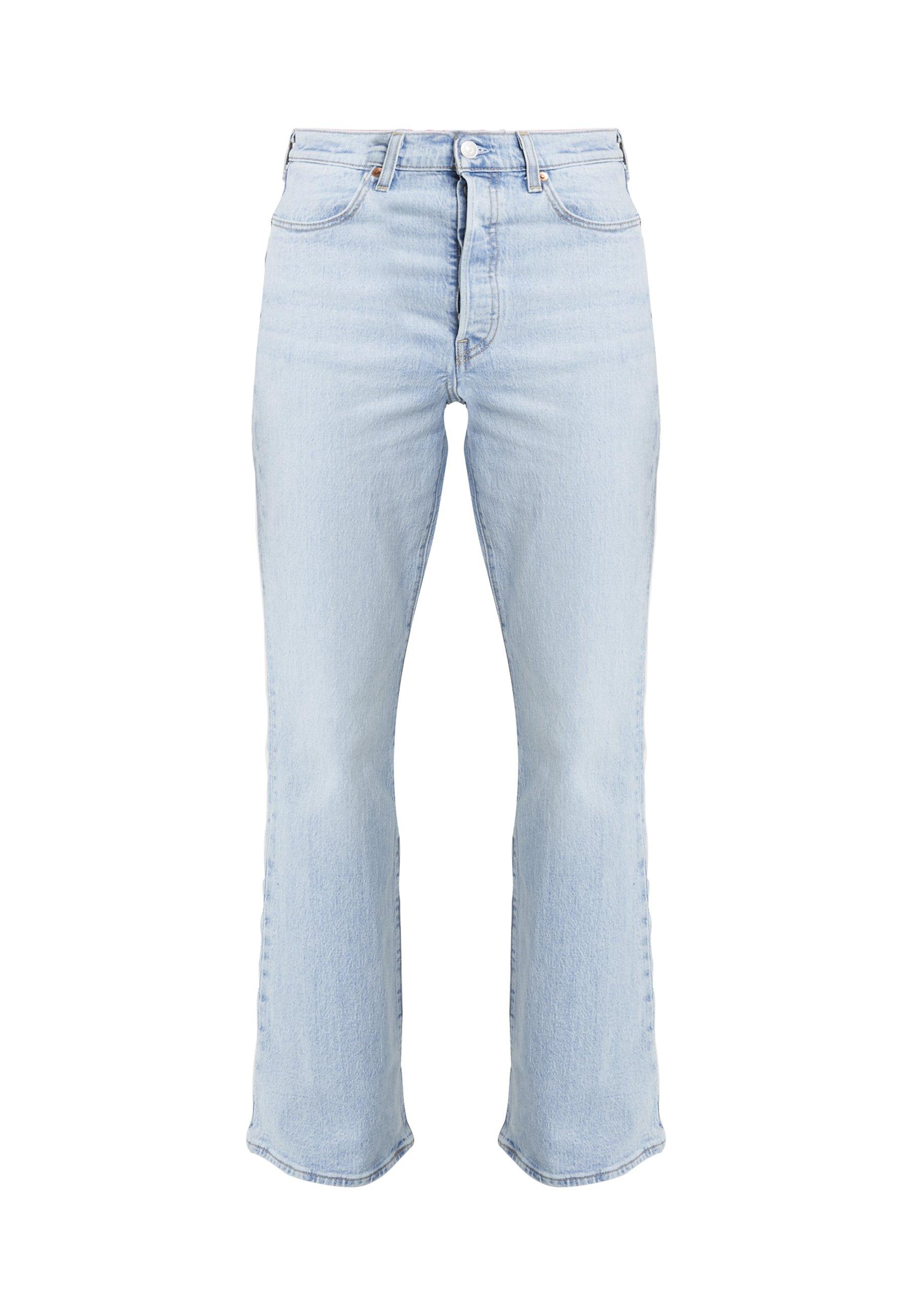 Levi's® RIBCAGE FLARE Bukse tango lightlyseblå denim
