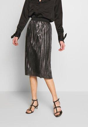 PLEATED SKIRT - Pencil skirt - silver