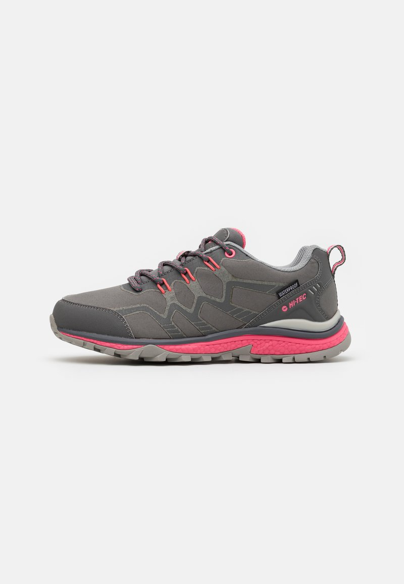 Hi-Tec - STINGER WP WOMENS - Hiking shoes - graffute/chiaccio/pink
