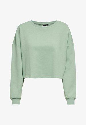 ONYFAVE LIFE O NECK CROPPED - Sweatshirt - jadeite