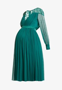 Anaya with love Maternity - LACE YOKE WITH LONG SLEEVES - Vestido de cóctel - emerald green - 5