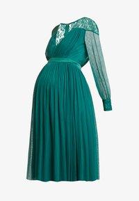 Anaya with love Maternity - LACE YOKE WITH LONG SLEEVES - Sukienka koktajlowa - emerald green - 5