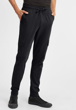 JORY - Tracksuit bottoms - black