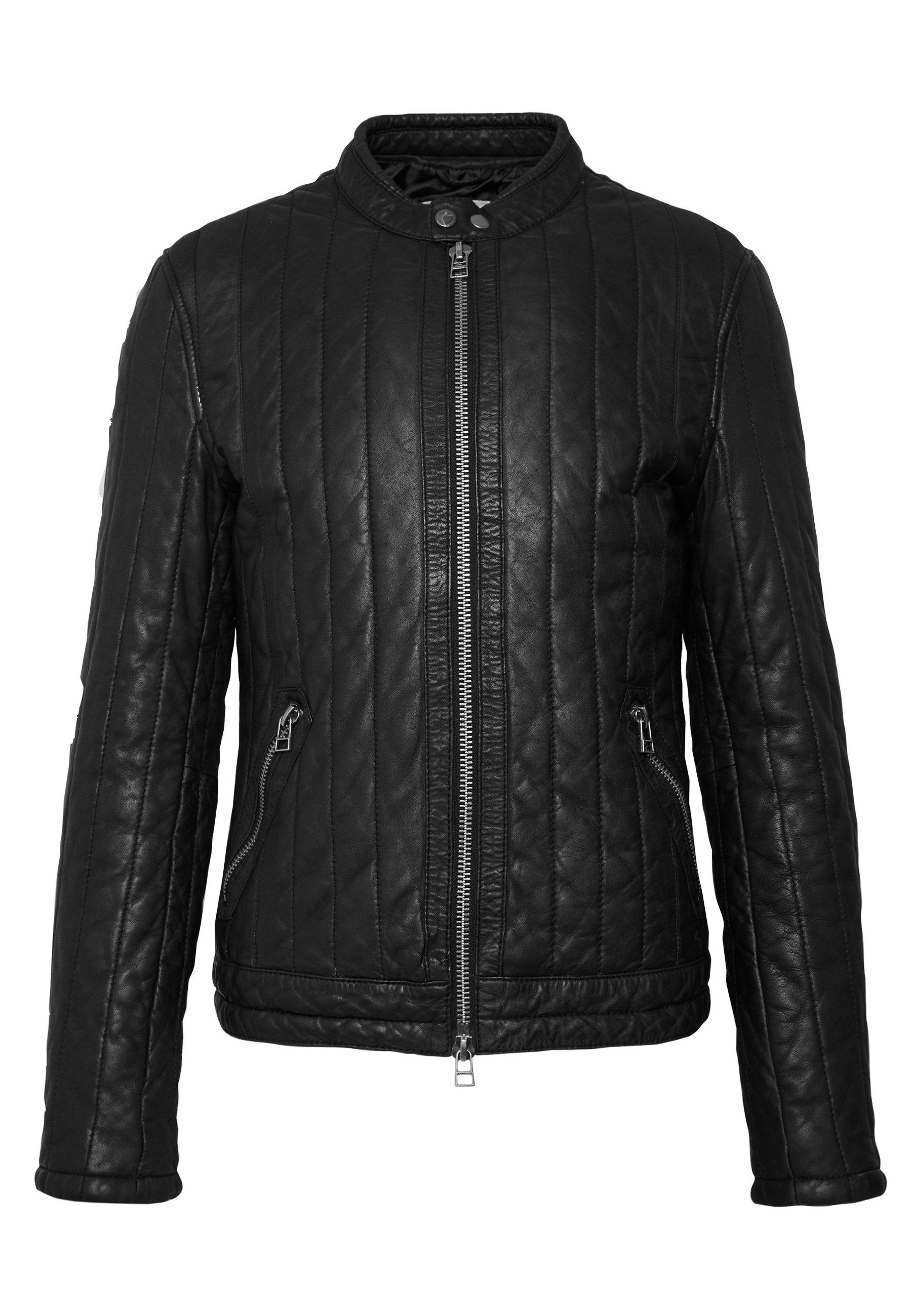 Goosecraft NOCTURNAL BIKER - Veste en cuir - black