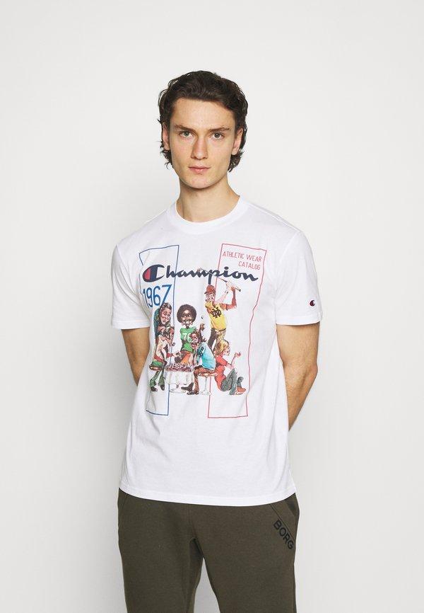 Champion Rochester CREWNECK - T-shirt z nadrukiem - white/biały Odzież Męska SOXS