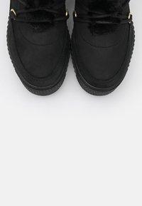 Tommy Hilfiger - WARM LINED LACE UP BOOTIE - Platform ankle boots - black - 5