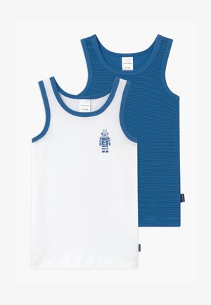 KIDS 2 PACK - Undershirt - blue/white