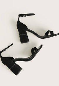 Bershka - High heeled sandals - black - 4
