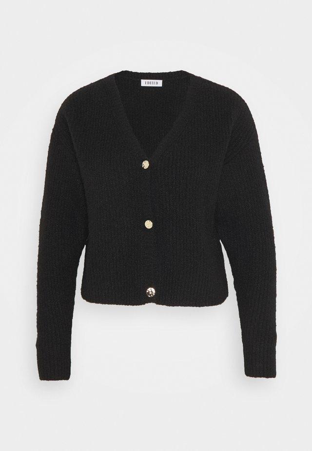 RONJA CARDIGAN - Vest - schwarz