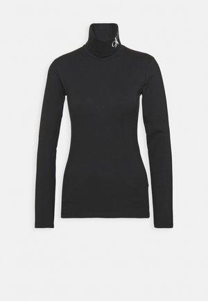 NECK ROLL NECK - Long sleeved top - black