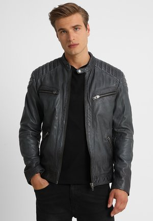 FIRE MAN - Leather jacket - dusty grey