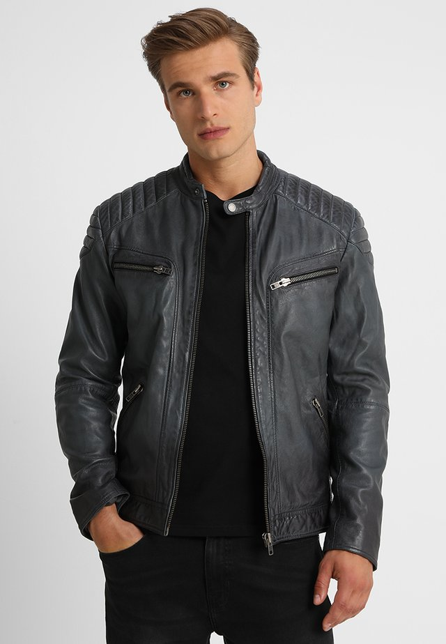 FIRE MAN - Veste en cuir - dusty grey