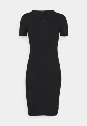 TUBE DRESS - Jersey dress - black