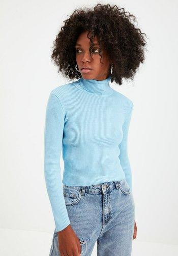 PARENT - Stickad tröja - blue