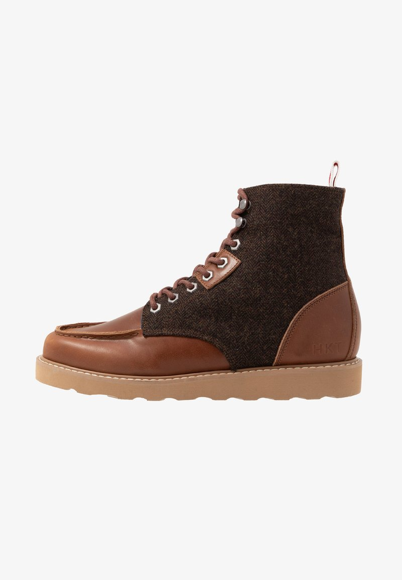 HKT by Hackett - WORK BOOT - Lace-up ankle boots - brown